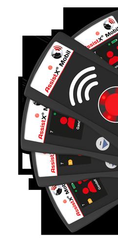 AssistX Mobil Sender und Empfänger Gruppe gefächert
