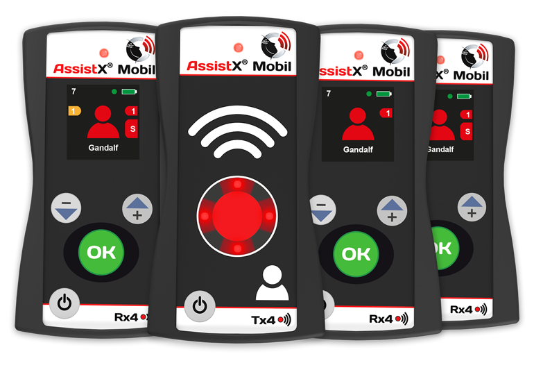 AssistX Mobile transmitter and receiver group