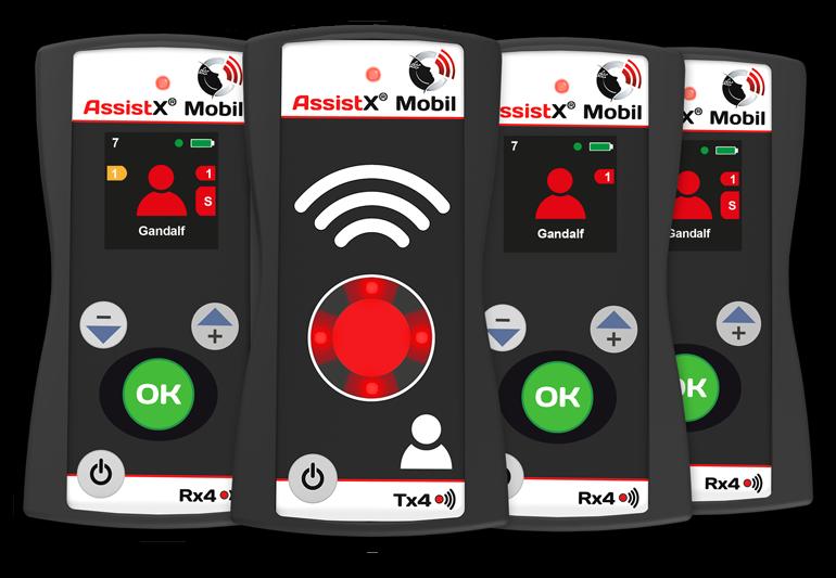 AssistX Mobil Sender und Empfänger Gruppe