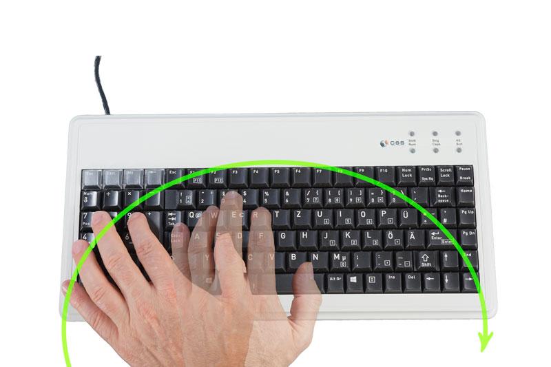 Einhandtastatur für Linkshänder